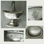 Kidney & Johnson, New York, Fixed Handle c. 1868 Coin Silver Basket