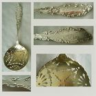 "Gorham ""Luxembourg"" Sterling Silver Pea Spoon, ""Whist Club 1897"""