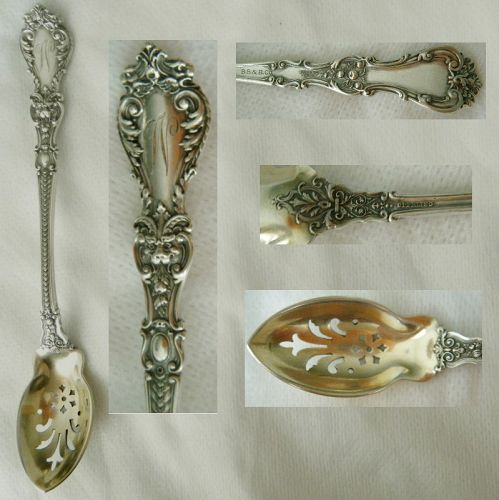 "Gorham ""Henry II"" Bailey, Banks & Biddle Sterling Silver Olive Spoon"