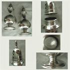 Manchester Georgian Style Solid Sterling Silver Salt & Pepper Shakers