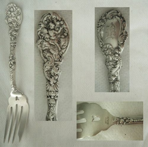 "Gorham ""Versailles"" Sterling Silver Pastry Fork x 2"