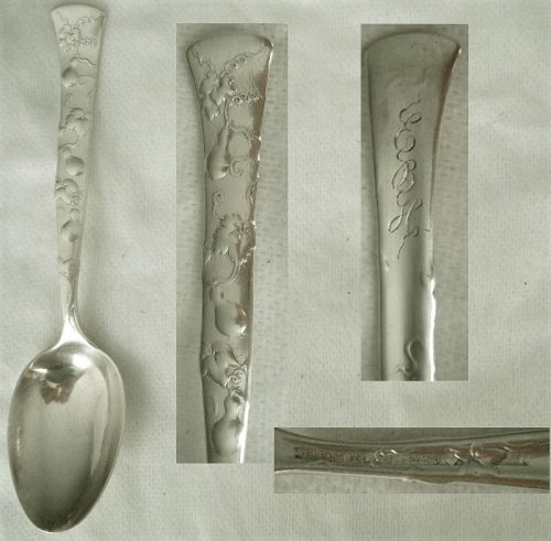 "Tiffany ""Vine"" (Gourd) Sterling Silver Youth Spoon"