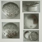 Black, Starr & Frost Floral Embossed Sterling Silver Pill Box
