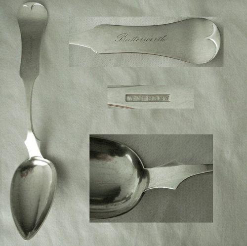 "Wilson McGrew ""Fiddle Tipt"" Coin Silver Tablespoon"