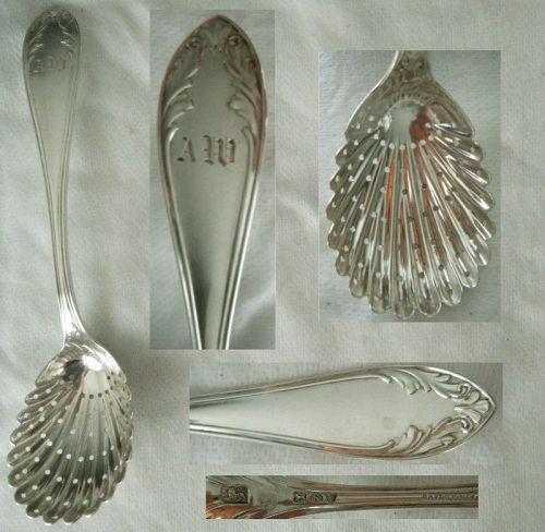 "Bailey & Co., Philadelphia, ""Leaf"" Sterling Silver Sugar Sifter"