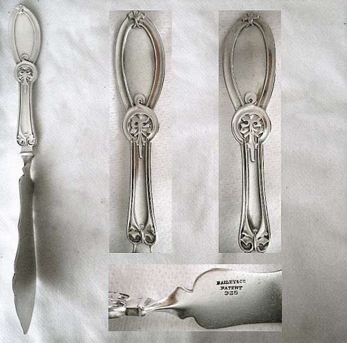 "Wendt ""Union"" Sterling Silver Right Angle Master Butter Knife"