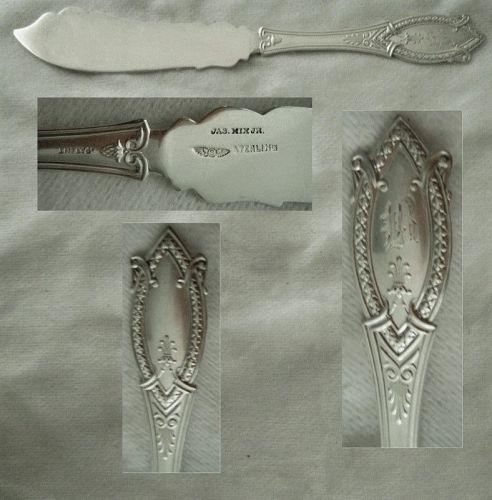 "Shiebler (Polhamus) ""Diamond"" Sterling Silver Individual Fish Knife"