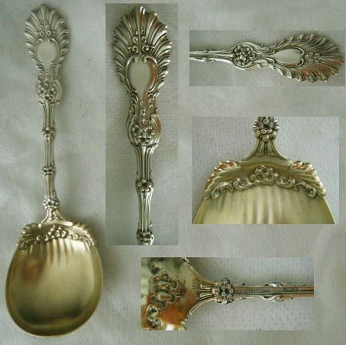 """Whiting """"Radiant"""" Sterling Silver Sugar Spoon with Ruffled Bowl"""