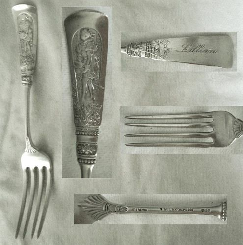 "Gorham ""Fontainebleau"" Sterling Silver Full Size Dinner Fork"