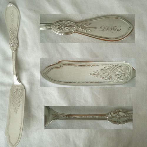 "Gorham ""Ionic"" Greek Revival Coin Silver Master Butter Knife"