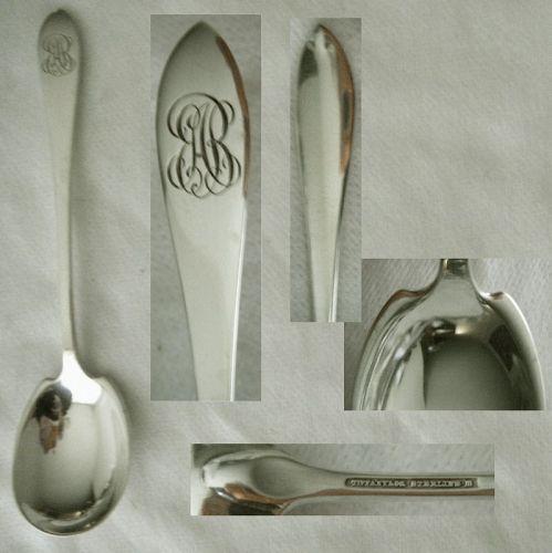 "Tiffany ""Fanueil"" (Pointed Antique) Sterling Silver Sugar Spoon"