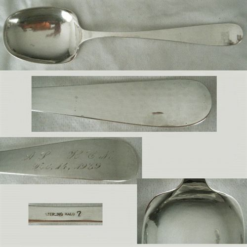 Kalo, Chicago, Hammered No. 7 Large 1939 Sterling Silver Serving Spoon