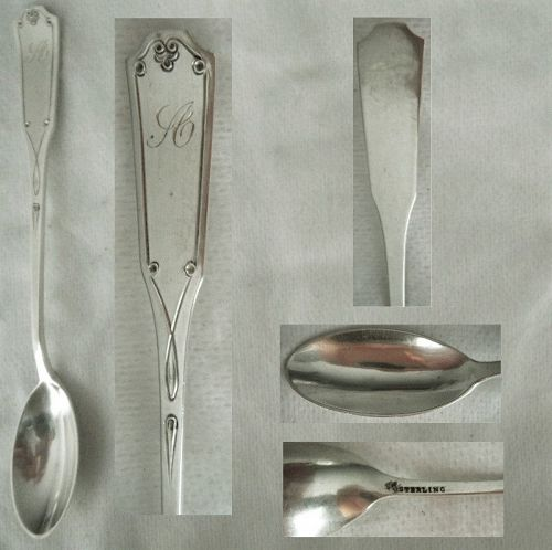 """Frank Smith """"Lincoln Engraved"""" Sterling Silver Chow Chow Spoon"""
