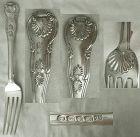 "James Beebe, London 1822, Massive ""Kings"" Sterling Silver Dinner Fork"