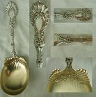 """Whiting """"Radiant"""" Sterling Silver Serving Spoon with Ruffled Bowl"""