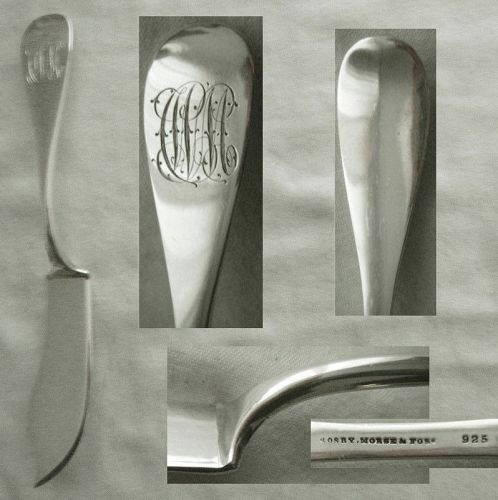 Crosby, Morse & Foss Substantial Sterling Silver Master Butter Knife