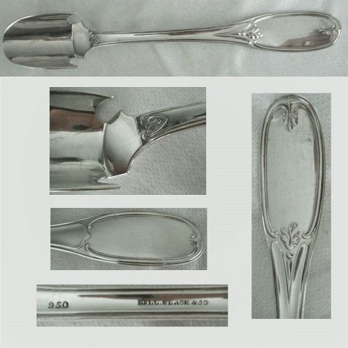 "Ball, Black & Co. ""Tuscan"" 950 Silver Large & Heavy Cheese Scoop"