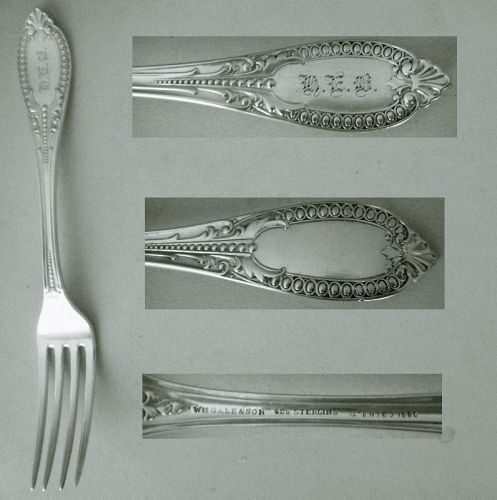 """William Gale & Son """"Italian"""" Sterling Silver Place Fork x 5"""