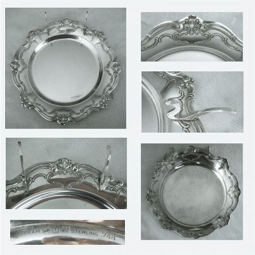 """Gorham Old """"Chantilly-Duchess"""" Sterling Silver Butter or Tidbit Plate"""