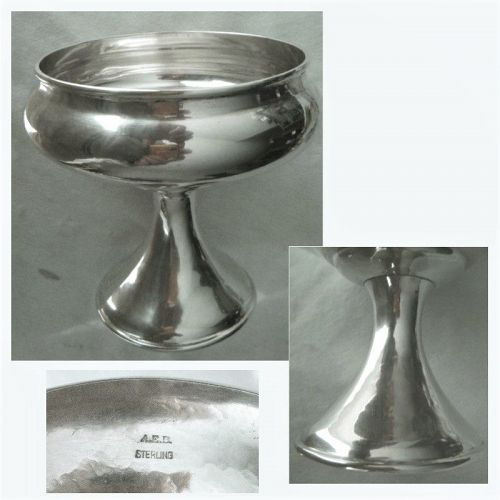 A.E.B. Arts & Crafts Sterling Silver Early 19th Century Footed Bowl