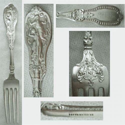 """Gorham """"Mythologique"""" Sterling Silver Face Back Place Fork(s)"""