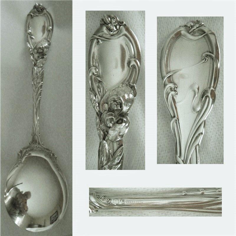"Reed & Barton ""La Parisienne"" Sterling Silver Large Serving Spoon"
