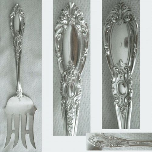"""Towle """"King Richard"""" Weighty Sterling Silver Cold Meat Fork"""