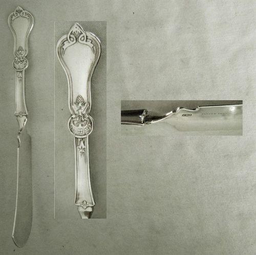 "John Westervelt ""Cone"" Heavy Coin Silver Master Butter Knife"