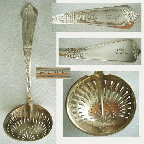 "Gorham ""Domestic"" Elegant Bowl Sterling Silver Sugar Sifter"