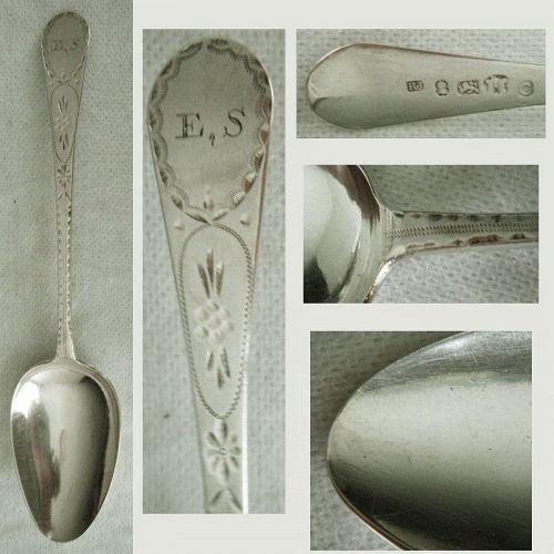 Richard Jenkins, Exeter, England, 1799 Sterling Silver Serving Spoon