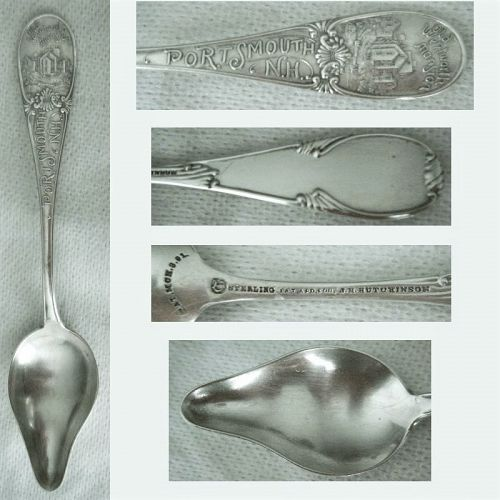 "Durgin ""Portsmouth NH"" Sterling Silver Souvenir Orange Spoon"