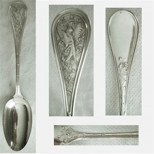 """Wendt """"Bird"""" Sterling Silver Place or Dessert Spoon"""
