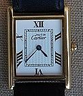 Cartier Men's Vermeil Tank Wrist Watch