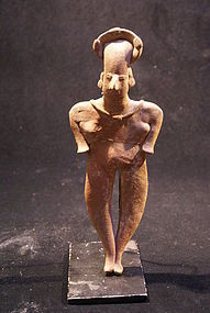 Pre-columbian Standing Female Figure - Colima