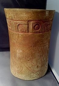 Pre-Columbian Mayan Cylinder Vase � Central America