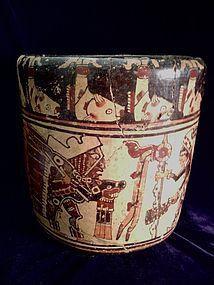 Pre-Columbian Mayan Cylinder Vase � Honduras.