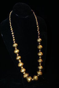 Pre-Columbian Chuma Goldball Necklace
