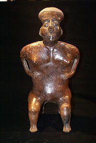 Pre-Columbiam Striking Female Figure Nayarit, Mexico