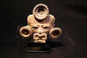 Pre-Columbian Terra Cotta Mask Teotihuacan Mexico