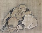 Antique Scroll Painting Hotei