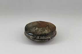 Japanese Bizen Wisteria Insence Container Kogo by Shuho