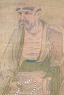 Japanese Hanging scroll of Daruma