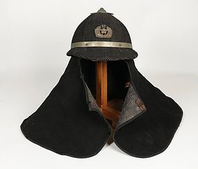 A Quite Unusual Firefigter Helmet in Cotton