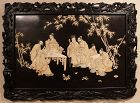 Large Wooden Panel of 7 Gods of Happiness in the bamboo forest
