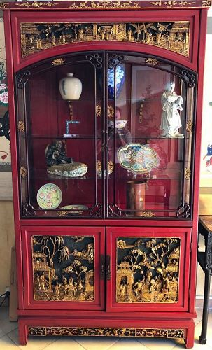 Large Lacquered Chinese Show Case
