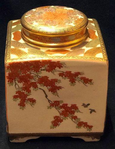 Satsuma Earthenware Tea Box