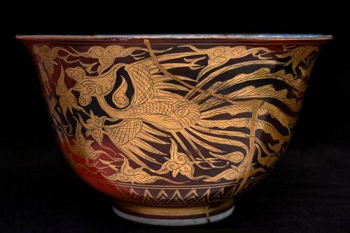Japanese Antique Kinrande Bowl Made by XII Eiraku Zengoro (1823�1896)