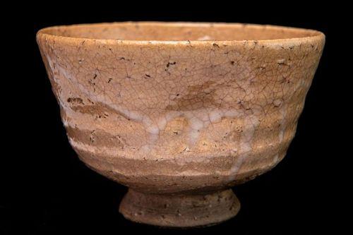 Rare 1910s Wari-Kodai style Hagi Chawan Bowl Japanese Teabowl
