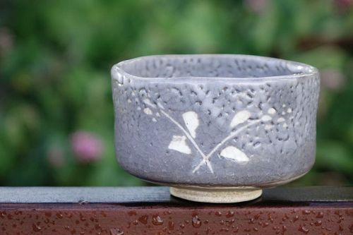 1940s Nezumi Shino Ware Chawan Teabowl for Tea Ceremony