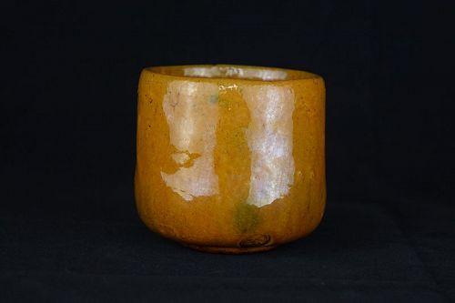 1930s Japanese Vintage Ohi-ware Sencha Yunomi Teacup Ohi Pottery